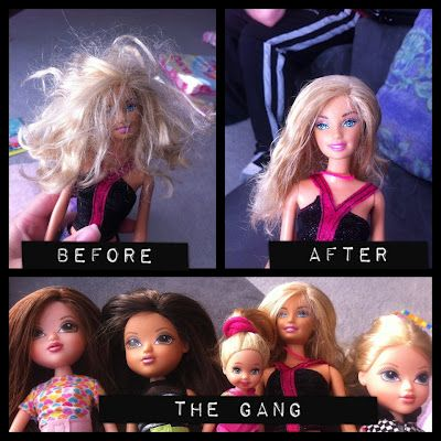 How to make dolls hair nice and soft again!