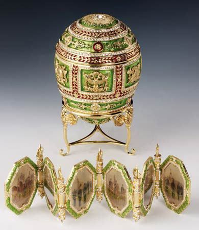 It all started in 1885, when the Russian Czar Alexander III came up with the idea of having an Easter egg made as a gift for his wife. Fabergé was chosen to complete this delicate task due to his well-known ability as a goldsmith and jeweler, and so the Imperial present was brought to life from the imagination of the master jeweler. The egg looked like a genuine hen egg, but made of gold and covered in white enamel.