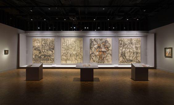 Aspecto de la exhibición 'Diego Rivera and Frida Kahlo in Detroit',