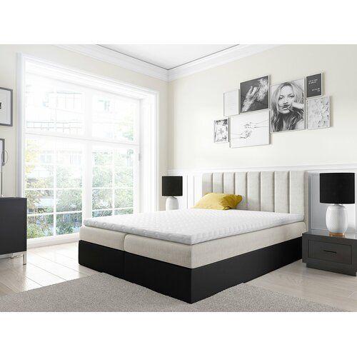 Boxspringbett Vigo Mit Topper Und Bettkasten Shirk 17 Stories Liegeflache 120 X 200 Cm Farbe Beige Schwarz Home Decor Home Furniture