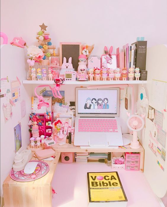 Diy Desk Decor Organization Kawaii Room Gamer Room Otaku Room