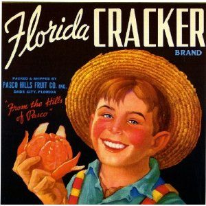 Dade City, Florida Cracker Orange Citrus Fruit Crate Box Label Art Print