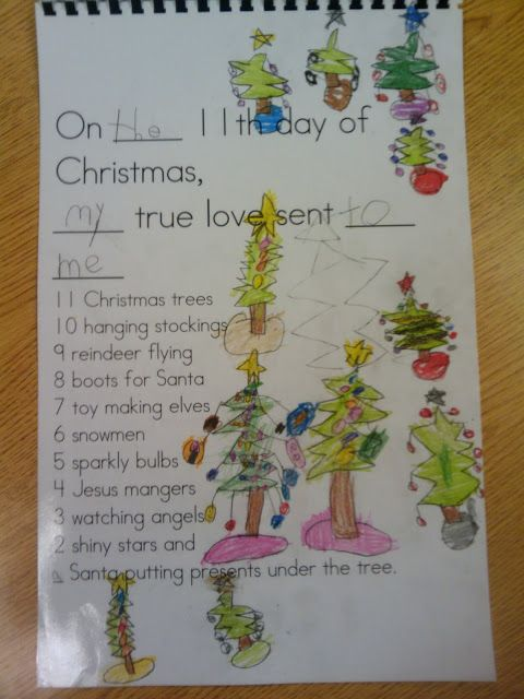 The 12 Days of Christmas Kindergarten Class Book Activity ...