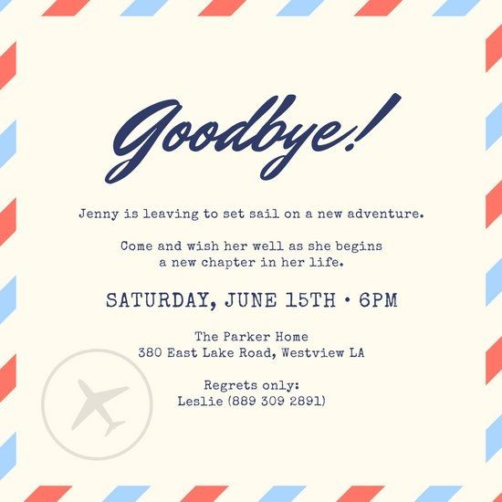 Goodbye Flyer Templates With Images Farewell Party Invitations