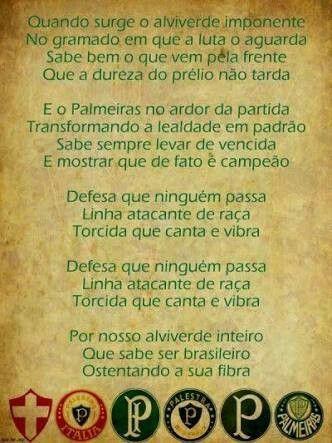 Hino do Palmeiras pôster