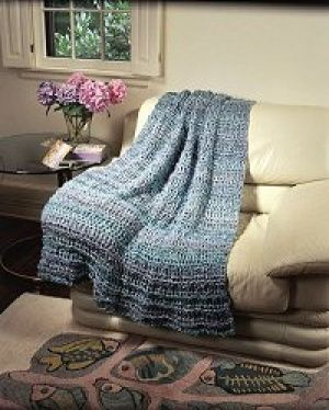 Free Crochet Afghan Patterns Using Homespun Yarn : Crochet Waterfall Throw using Lion Brand Homespun Yarn ...