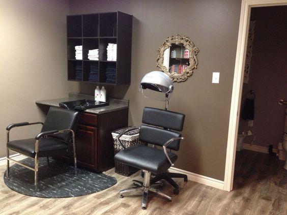 home salon design.  Hair Haus salon home Pinteres