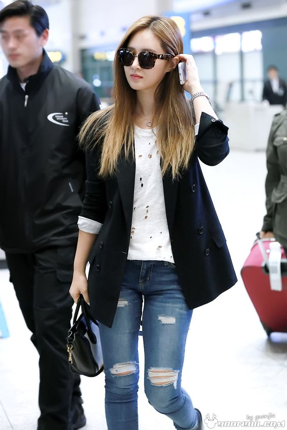 snsd yuri airport fashion 150330 2015 snsd airport