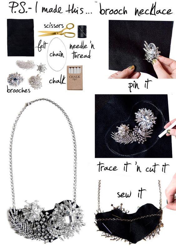 Great way to use Thrift store finds or G'ma's Jewelry from P.S. I made this