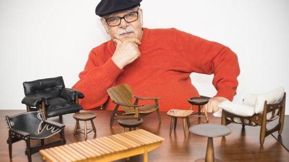 O designer brasileiro Sergio Rodrigues. Foto: Reprodução