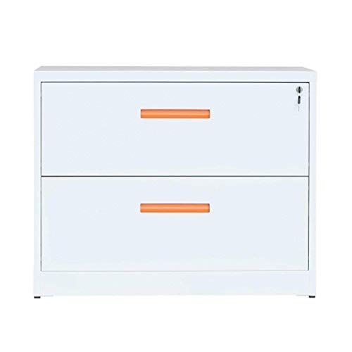 8haowenju Metal Lateral File Cabinet With Lock 35 4w 28 4h 17 7d 2 Drawers Color White Filing Cabinet Lateral File Cabinet Lateral File