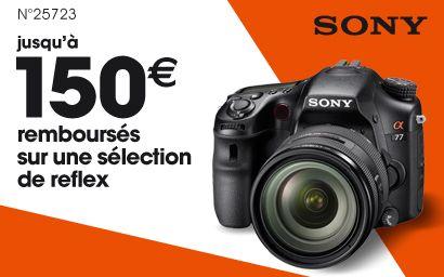 Sony rembourse jusqu'à 150€ sur les reflex SLT-A58, SLT-A65V et SLT-A77V