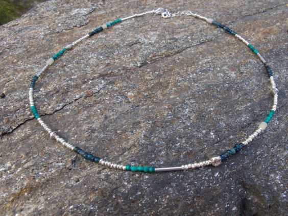 Fine Silver and Natural Stone Bead Balance by LifeisBalance, $68.00