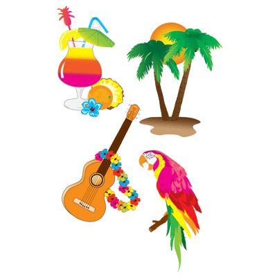 Hawaii versiering voor aan de muur. Hawaii of tropisch feestje? Bij Fun en Feest vind je de leukste Hawaii feestartikelen, versiering en decoratie.