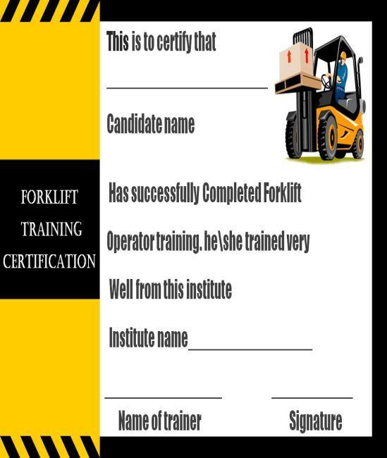 15 Forklift Certification Card Template For Training Providers Template Sumo Forklift Card Template Forklift Training