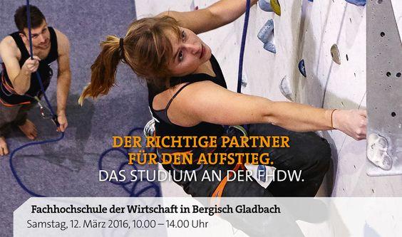 Studien- und Karrieretag an der FHDW in Bergisch Gladbach #gl1 am 12.März 2016