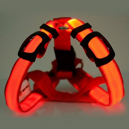Peitoral Tech Pets Brilliance Vermelha - MeuAmigoPet.com.br #petshop #cachorro #cão #meuamigopet