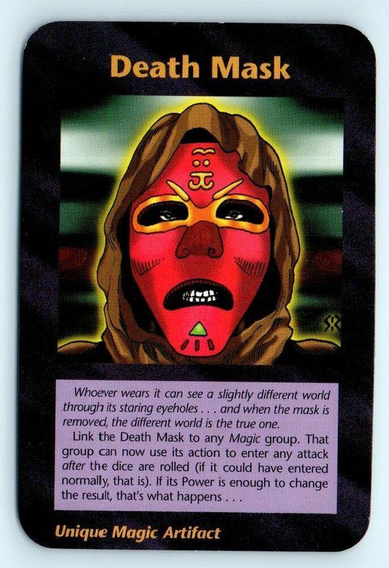 Illuminati New World Order INWO Assassins Card Game NWO Death Mask Uncommon #SteveJacksonGames