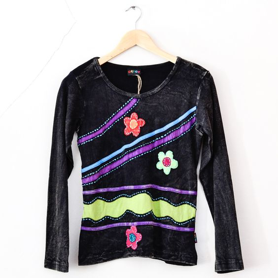 Fair Trade Gringo Long Sleeved Hand Crafted Top Small Medium
