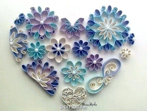 Toilet Paper Roll Crafts Flowers Inspiration Only Toilet Paper Roll Amazing Wall Art Beautiful Blue Purple Paper Roll Crafts Quilling Designs Rolled Paper Art