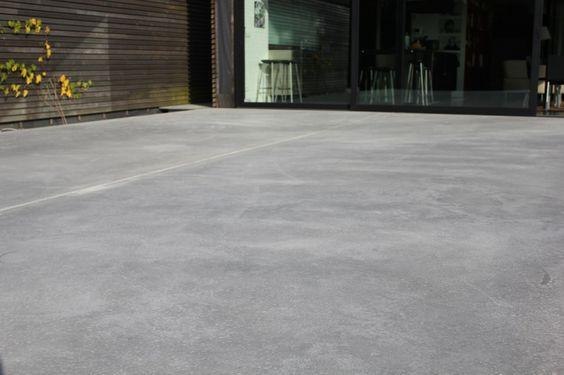 terrasse en b ton naturel et voiles apparents extradal b ton poli sol beton bois. Black Bedroom Furniture Sets. Home Design Ideas
