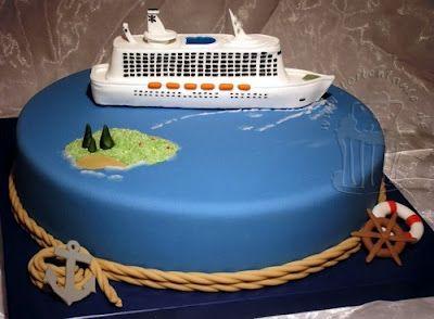 Torte mit Kreuzfahrtschiff from Meine bunte Tortenwelt