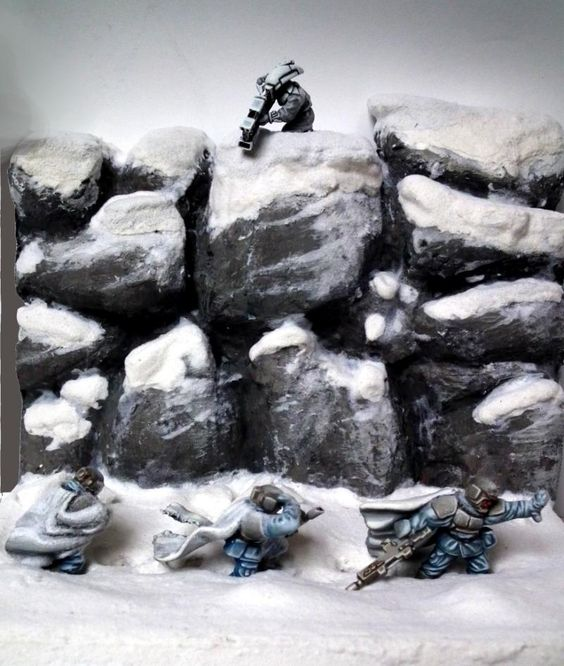 Ambush, Ameazing, Camouflage, Diorama, Duel, Duell, Hills, Imperial Guard, Nice, Pathfinders, Perfect, Pva, Snow, Tau, Warhammer 40'000, Warhammer 40,000, White, Wind, Winter
