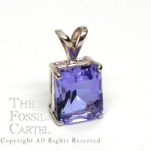 Twilight Obsidianite Emerald Cut Pendant