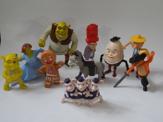 McDonalds Happy Meals Fast Food Toys Selection of 10 Shrek ...