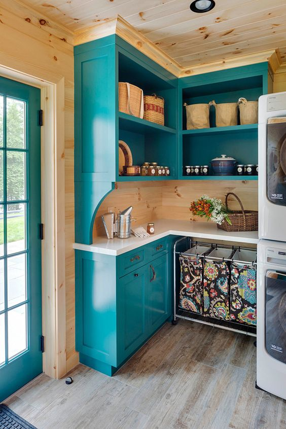 Laundry rooms, Laundry and House of turquoise on Pinterest