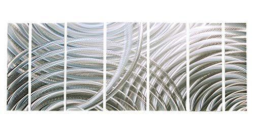Statements2000 Silver Metal Wall Art Panels Handmade Decor Jon Allen Unplugged