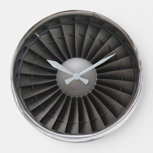 Jet Engine Turbine Fan Large Clock Zazzle Com Large Clock Jet Engine Jet Turbine
