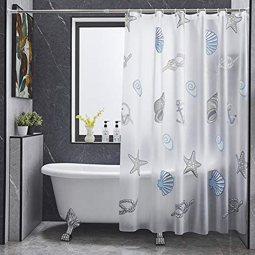 Bona Fierer Anime Seashell Peva Shower Curtain Or Liner 71 X71 With Hooks Set Bathroom Curtains Waterpro In 2020 Bathroom Curtains Cool Shower Curtains Shower Curtain