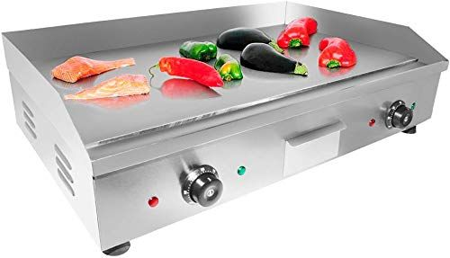 Buy Aldkitchen Electric Countertop Griddle Stainless Steel Adjustable Temp Control Commercial Restaurant Grill Flat 29 X18 Online In 2020 Countertops Temp Control Flush Mount Ceiling Fan