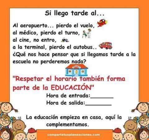 Educaci n infantil cartel puntualidad ayuda e ideas for Concepto de la familia para ninos