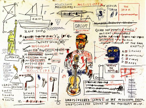 ART OF ALL FORMS, jimlovesart:   Jean-Michel Basquiat - Undiscovered...