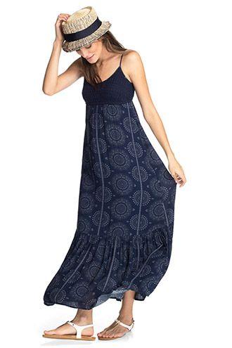 Esprit / Maxi-Kleid mit Häkel-Bustier