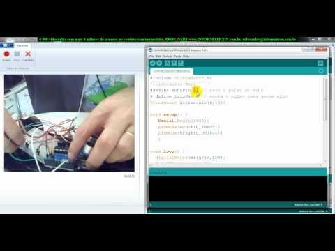 ▶ aula 4491 Arduino Carrinho com sensor ultrasonico para distancia - YouTube