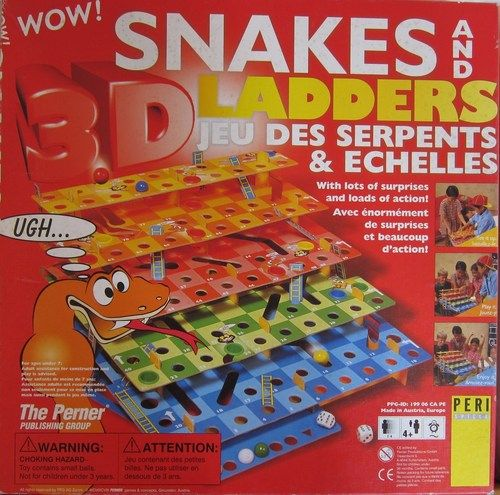 Snakes And Ladders 3d Image Boardgamegeek Snakes And Ladders Snake And Ladder 3d Snake