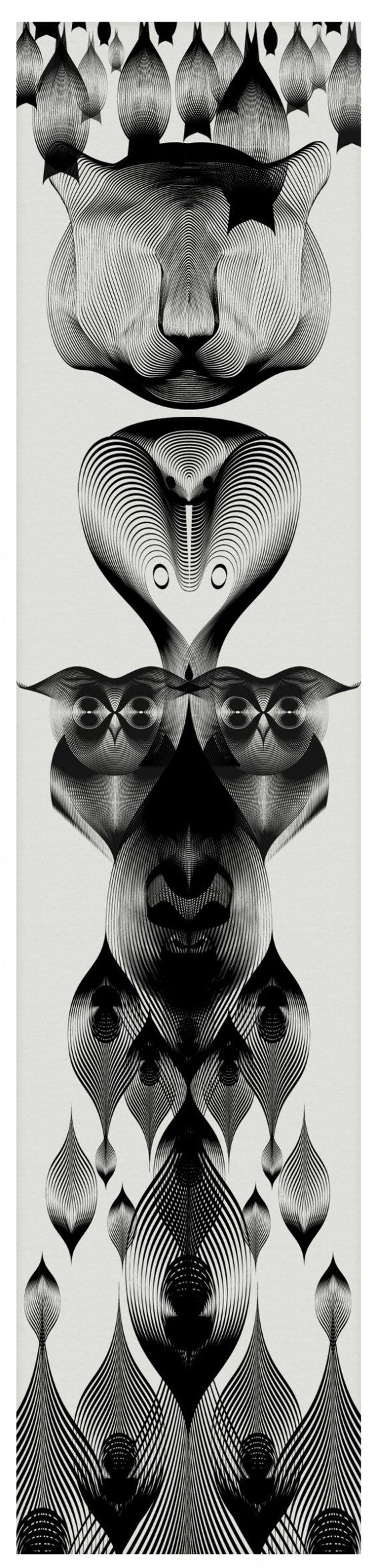 Animals in Moiré / Andrea Minini | AA13 – blog – Inspiration – Design – Architecture – Photographie – Art