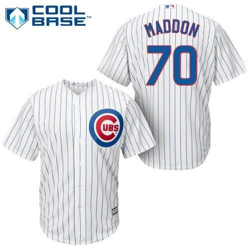 Chicago Cubs Joe Madden Youth Home Cool Base Jersey w/Authentic Twill Lettering