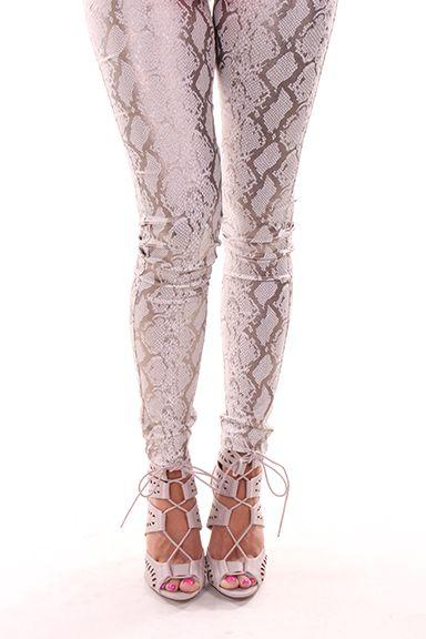 Silver Print Pants - Lime Lush Boutique