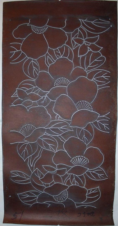 Katagami stencil: