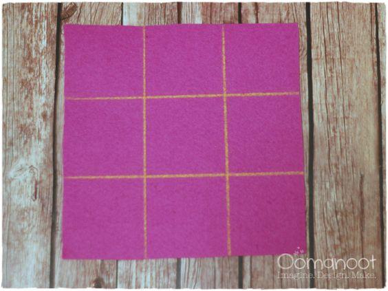 Oomanoot |  Minuto 10 DIY Cajas de fieltro