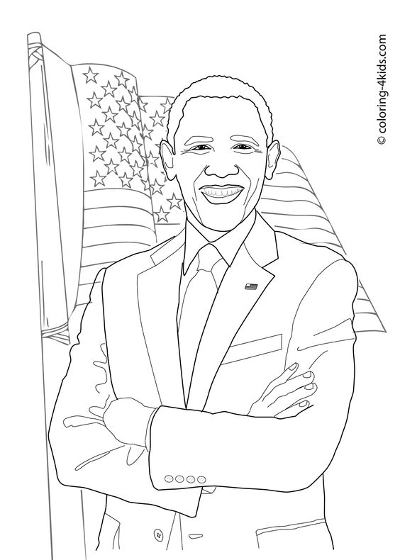 obama and coloring pages - photo #20