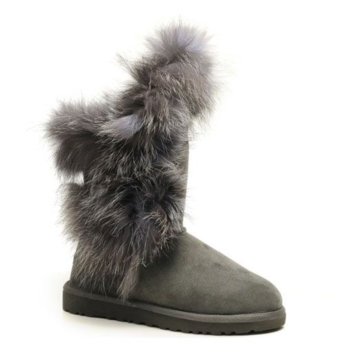 Jimmy Choo Fox Fur Womens Boots Clearance UGG Australia 5531 Gray ...