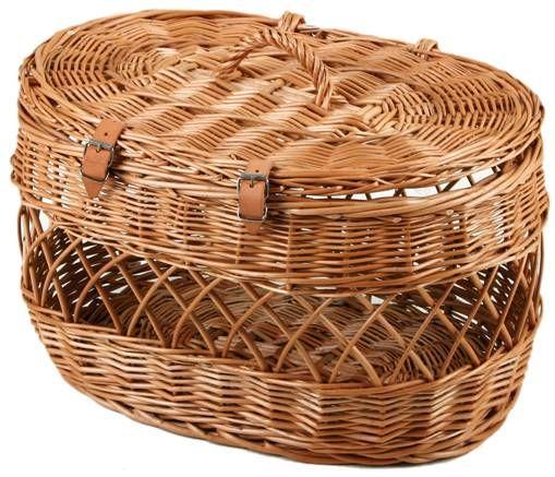 Cage Transport Chat Ovale En Osier au meilleur prix ! - LeKingStore