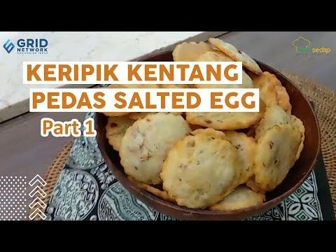 Resep Lebaran Keripik Kentang Pedas Salted Egg Part 1 Camilan Buat Yang Lebaran Di Rumah Aja Youtube Keripik Kentang Keripik Kentang