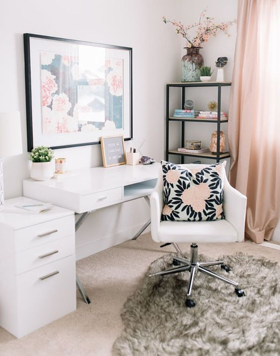 Decorações lindas de Home Office para se Inspirar - Sweet Magic