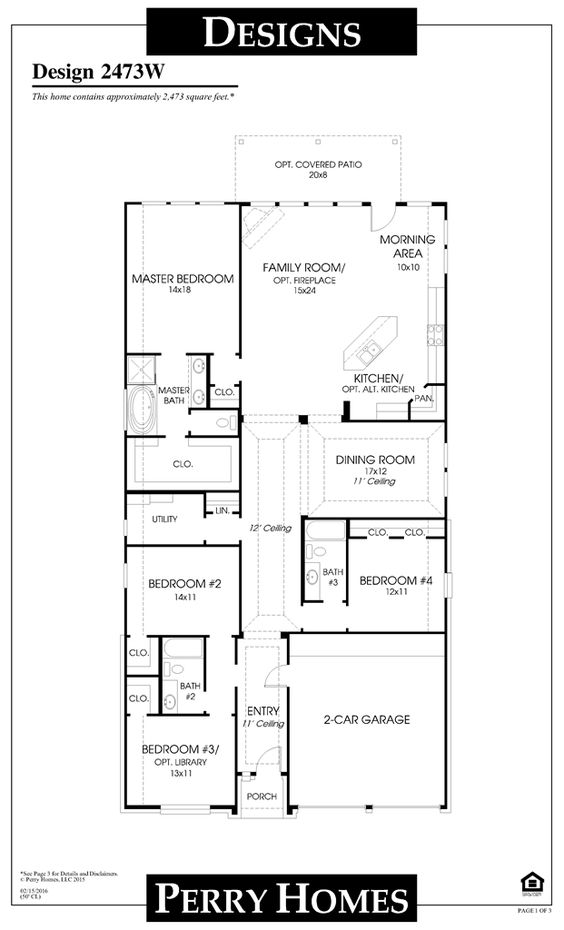 Mobile Perry Homes Floor Plans Pinterest Home And